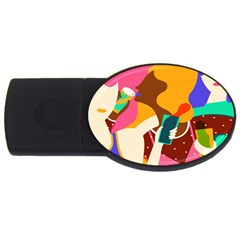 Girl Colorful Copy USB Flash Drive Oval (2 GB)