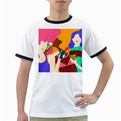 Girl Colorful Copy Ringer T-Shirts