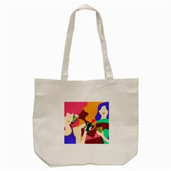 Girl Colorful Copy Tote Bag (Cream)