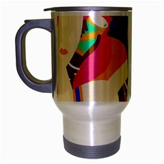 Girl Colorful Copy Travel Mug (Silver Gray)
