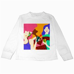 Girl Colorful Copy Kids Long Sleeve T-Shirts