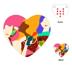 Girl Colorful Copy Playing Cards (Heart)