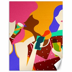 Girl Colorful Copy Canvas 12  x 16
