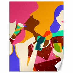Girl Colorful Copy Canvas 18  x 24