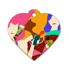 Girl Colorful Copy Dog Tag Heart (One Side)
