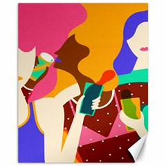 Girl Colorful Copy Canvas 11  x 14