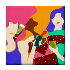 Girl Colorful Copy Face Towel
