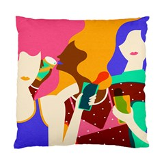 Girl Colorful Copy Standard Cushion Case (Two Sides)