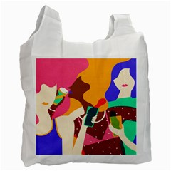 Girl Colorful Copy Recycle Bag (One Side)