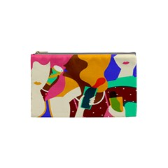Girl Colorful Copy Cosmetic Bag (Small)
