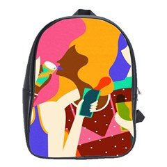 Girl Colorful Copy School Bags(Large)