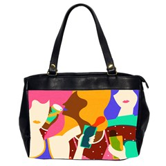 Girl Colorful Copy Office Handbags (2 Sides)