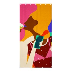 Girl Colorful Copy Shower Curtain 36  x 72  (Stall)