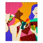 Girl Colorful Copy Shower Curtain 60  x 72  (Medium)  54.25 x65.71 Curtain