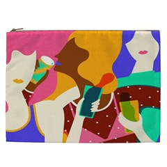 Girl Colorful Copy Cosmetic Bag (XXL)