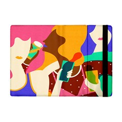 Girl Colorful Copy Apple iPad Mini Flip Case