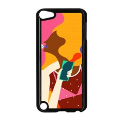 Girl Colorful Copy Apple iPod Touch 5 Case (Black)