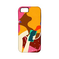 Girl Colorful Copy Apple iPhone 5 Classic Hardshell Case (PC+Silicone)