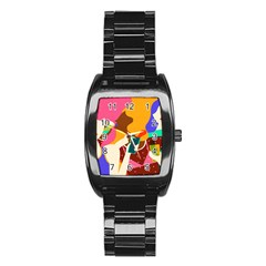 Girl Colorful Copy Stainless Steel Barrel Watch