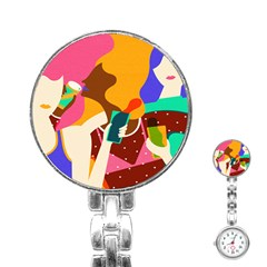 Girl Colorful Copy Stainless Steel Nurses Watch