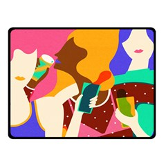 Girl Colorful Copy Double Sided Fleece Blanket (small)