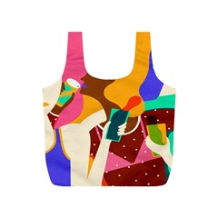 Girl Colorful Copy Full Print Recycle Bags (S)