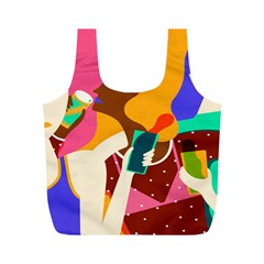 Girl Colorful Copy Full Print Recycle Bags (M)
