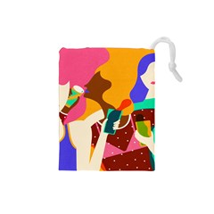 Girl Colorful Copy Drawstring Pouches (Small)