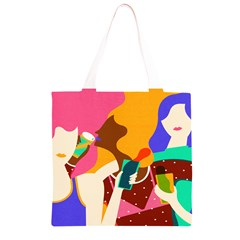 Girl Colorful Copy Grocery Light Tote Bag