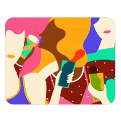Girl Colorful Copy Double Sided Flano Blanket (Large)