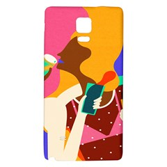 Girl Colorful Copy Galaxy Note 4 Back Case