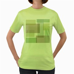 Abstract Background Pattern Design Women s Green T-Shirt