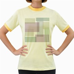 Abstract Background Pattern Design Women s Fitted Ringer T-Shirts