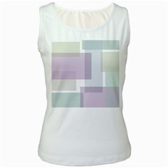 Abstract Background Pattern Design Women s White Tank Top