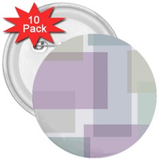 Abstract Background Pattern Design 3  Buttons (10 pack)