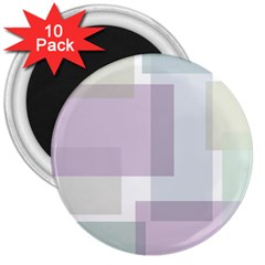 Abstract Background Pattern Design 3  Magnets (10 pack)