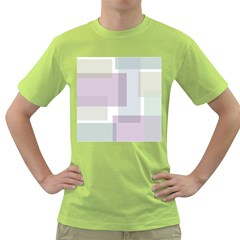 Abstract Background Pattern Design Green T-Shirt