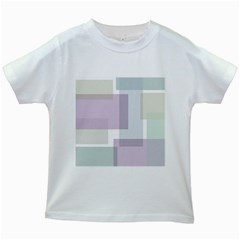 Abstract Background Pattern Design Kids White T-Shirts