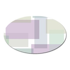 Abstract Background Pattern Design Oval Magnet