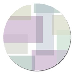 Abstract Background Pattern Design Magnet 5  (Round)