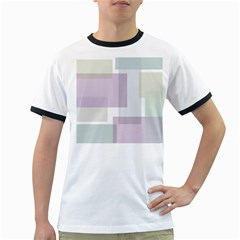 Abstract Background Pattern Design Ringer T-Shirts