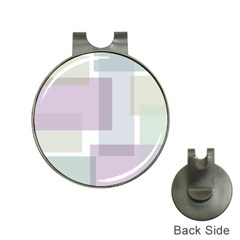 Abstract Background Pattern Design Hat Clips with Golf Markers