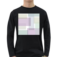 Abstract Background Pattern Design Long Sleeve Dark T-Shirts