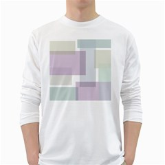 Abstract Background Pattern Design White Long Sleeve T-Shirts