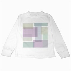 Abstract Background Pattern Design Kids Long Sleeve T-Shirts