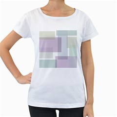 Abstract Background Pattern Design Women s Loose-Fit T-Shirt (White)