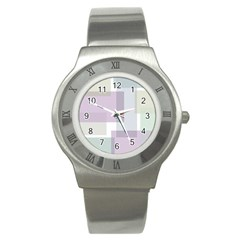 Abstract Background Pattern Design Stainless Steel Watch