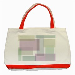 Abstract Background Pattern Design Classic Tote Bag (Red)
