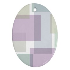 Abstract Background Pattern Design Oval Ornament (Two Sides)
