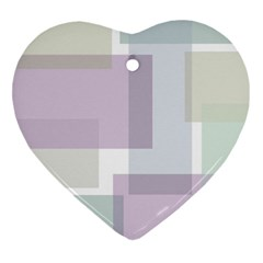 Abstract Background Pattern Design Heart Ornament (2 Sides)